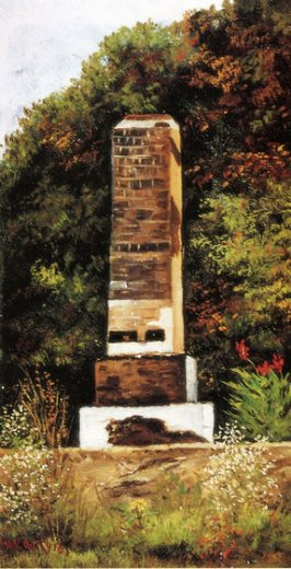 william aiken walker brick chimney at the edge of a wood north carolina paintings