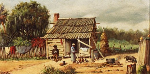 william aiken walker cabin scene painting