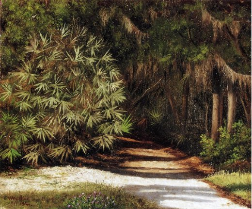 william aiken walker forest scene with moss oil painting