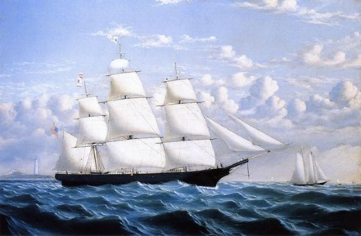 william bradford clipper ship northern light of boston oil painting