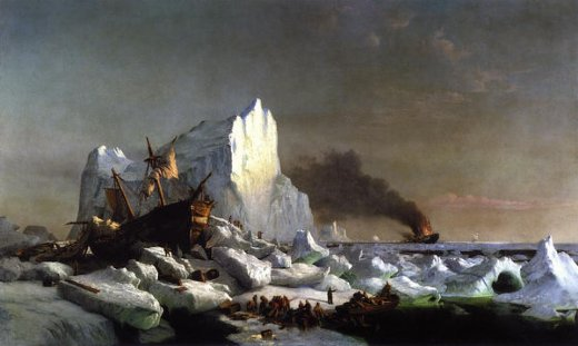 william bradford sealers crushed by icebergs painting