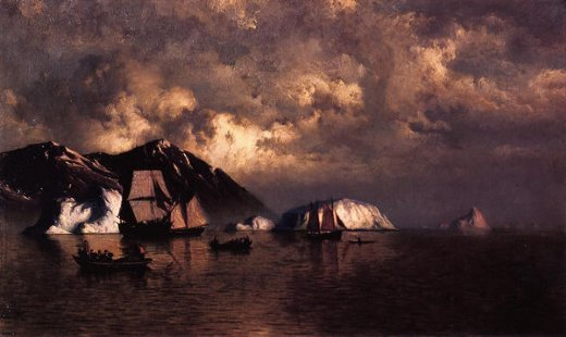william bradford seiners off the coast of labrador paintings