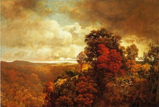 william mason brown autumnal landscape painting