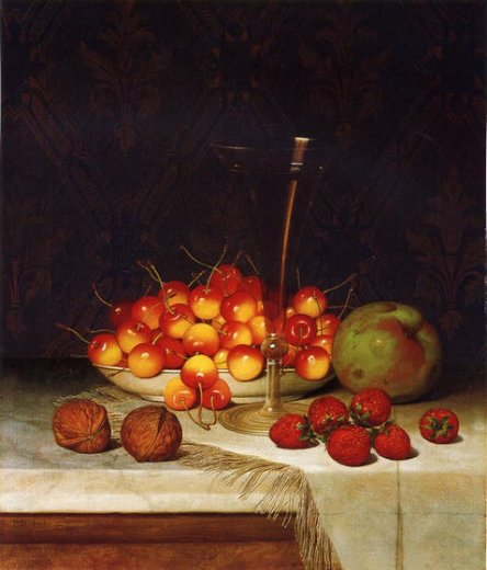 william mason brown fruit and wine painting