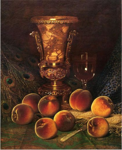 william mason brown still life with peaches and marble vase paintings