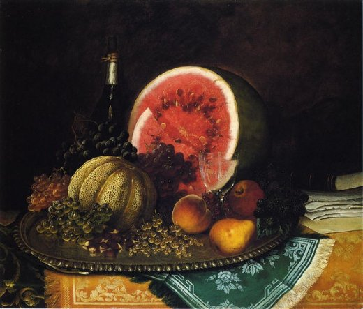 william mason brown still life with watermelon paintings