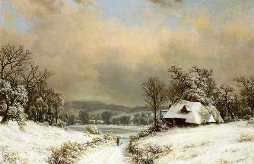 william mason brown winter in the country painting