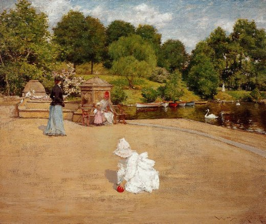 william merritt chase a bit of the terrace painting