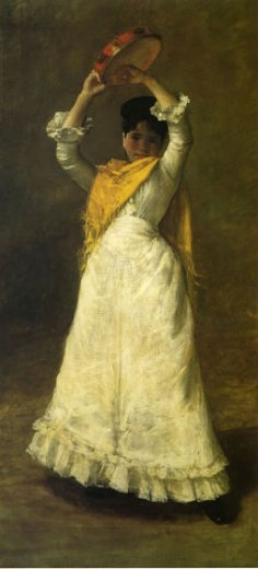 william merritt chase a madrid dancing girl paintings