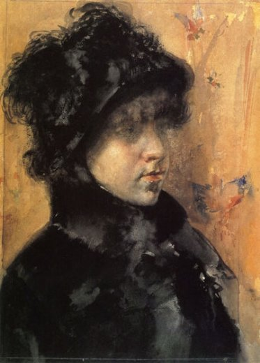 william merritt chase a portrait study painting
