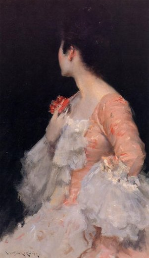 william merritt chase portrait of a lady paintings