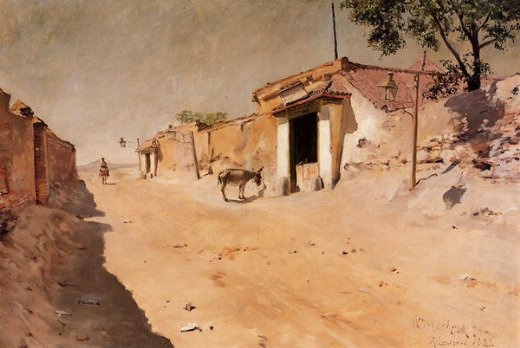 william merritt chase spanish village paintings