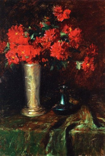 william merritt chase still life flowers paintings