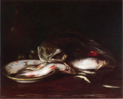william merritt chase still life with fish ii paintings