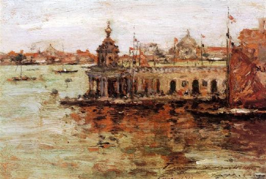 william merritt chase venice view of the navy arsenal painting