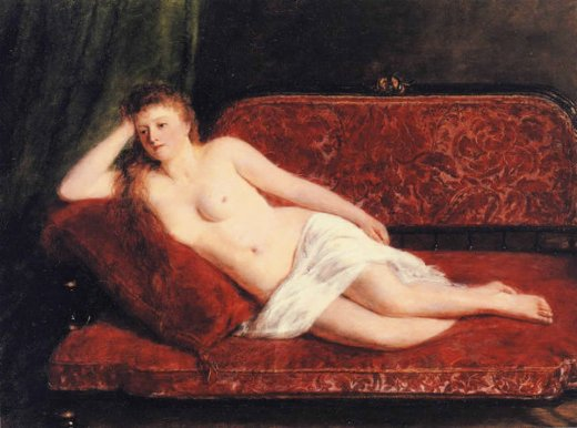 william powell frith after the bath oil painting