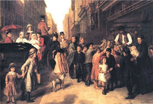 william powell frith poverty and wealth painting