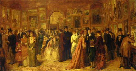 william powell frith the private view 1881 oil painting