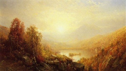 william trost richards autumn in the mountains painting
