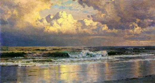 william trost richards beach at atlantic city painting