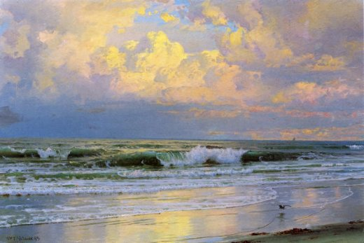 william trost richards breaking waves ii painting
