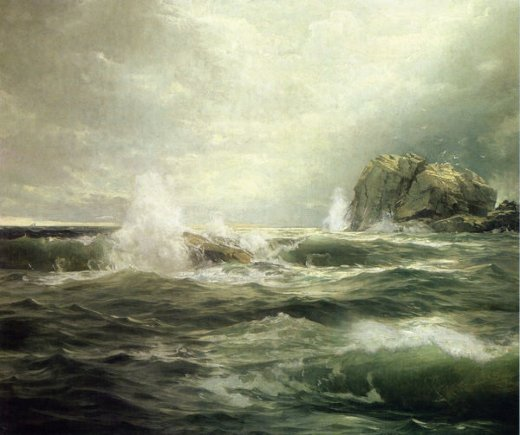 william trost richards clearing after the storm painting