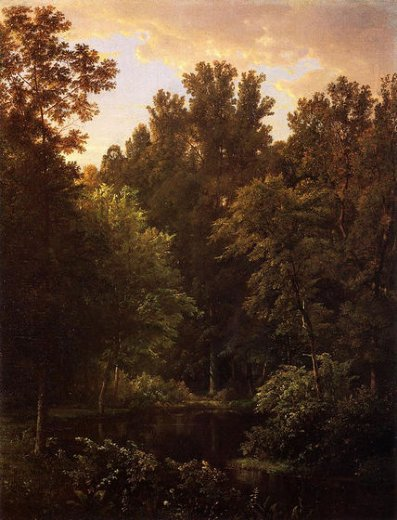 william trost richards forest pool paintings