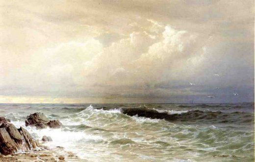 william trost richards off the coast of rhode island painting