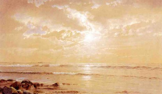 william trost richards on the beach painting