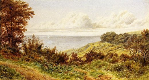 william trost richards overlooking the coast painting