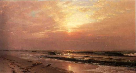 william trost richards seascape at sunset painting
