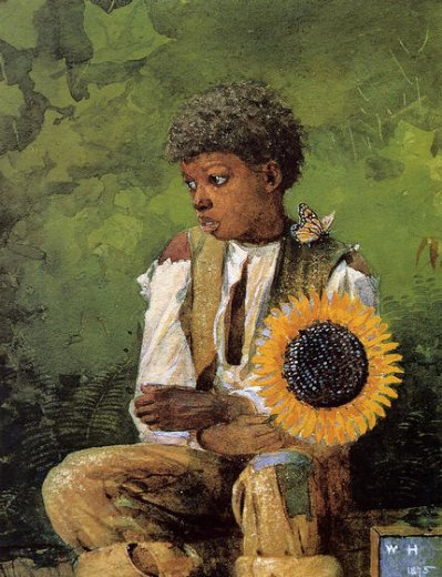 winslow homer a flower for the teacher painting