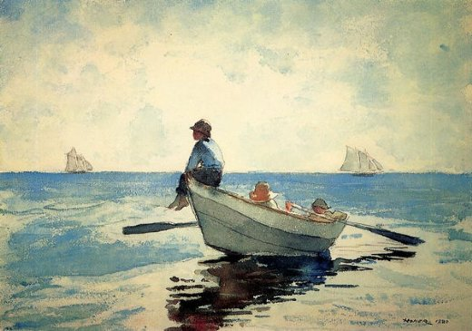 winslow homer boys in a dory painting