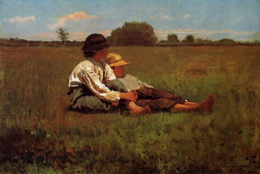 winslow homer boys in a pasture painting