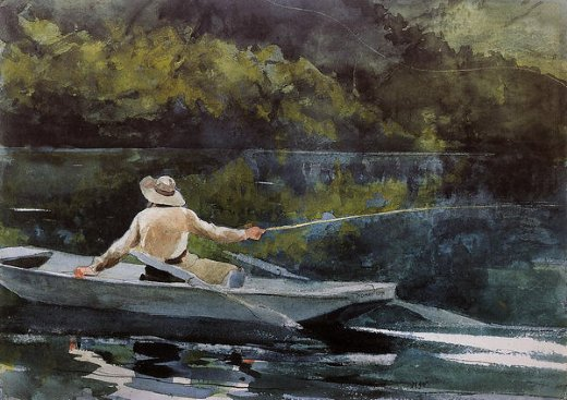 winslow homer casting the fly painting