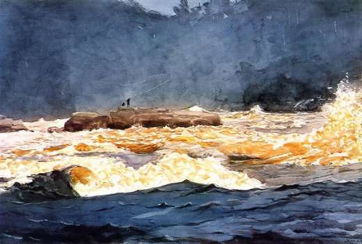 winslow homer fishing the rapids saguenay paintings