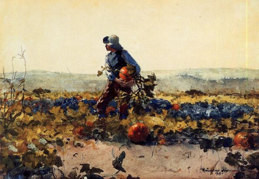winslow homer for the farmer s boy old english song paintings