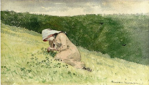 winslow homer four leaf clover prints