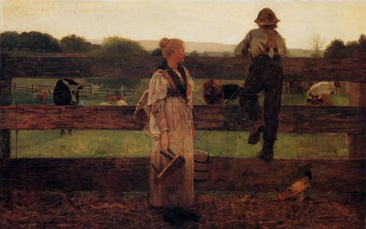 winslow homer milking time painting