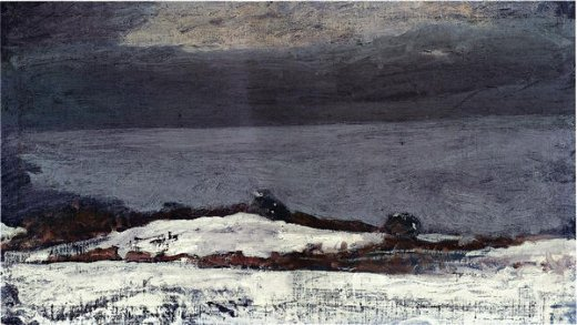 winslow homer prout s neck in winter painting