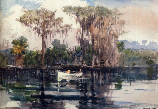 winslow homer st. john s river florida painting
