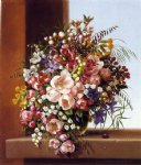 adelheid dietrich flowers in a glass bowl painting 37919