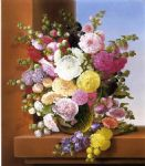 still life famous paintings - still life of flowers by adelheid dietrich