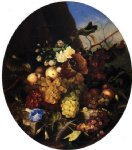 adelheid dietrich art - still life of fruit and flowers by adelheid dietrich