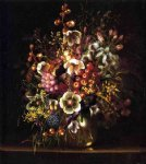 adelheid dietrich art - still life with flowers in a vase by adelheid dietrich