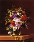 adelheid dietrich art - wildflowers in a glass vase by adelheid dietrich