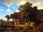 albert bierstadt acrylic paintings - a rustic mill by albert bierstadt