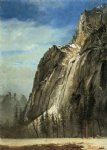 albert bierstadt cathedral rocks a yosemite view painting
