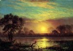 evening owens lake california by albert bierstadt painting