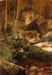 forest original paintings - forest stream by albert bierstadt